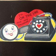 Vintage Valentine Phone Card