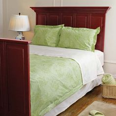 Using paneled bi-fold doors and stock molding you can create this handsome headboard and footboard. | Photo: Gemma Comas | thisoldhouse.com