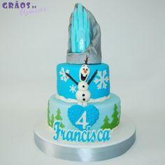 Frozen - Castelo - Grãos de Açúcar - Bolos decorados - Cake Design
