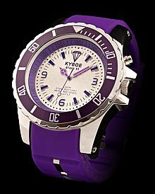 PURPLE PIZZAZZ  KY-021 Big Watches, Cool Watches, Funky Fashion, Fashion Accessories, Bling, Steel, Purple, My Style, Silver