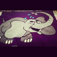 Crocheted elephant blanket :)