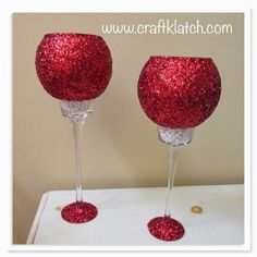 glam, room decor, glam room decor, dollar store, dollar tree, dollar store crafts, idea, ideas, craft ideas, glitter, pearls, craft, crafts, crafting, elegant, candleholders, makeover, redo, christmas, holiday, red