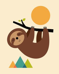 Shop for unique nursery art like the Keep Calm And Live Slow Art Print by AndyWestface on BoomBoomPrints today! Customize colors, style and design to make the artwork in your baby's room their own! Sloth Drawing, Cute Sloth, Nursery Art, Animal Drawings, Framed Art Prints, Poster Prints, Baby Animals, Art For Kids, Illustration Art