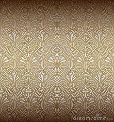 Art Nouveau Patterns Designs | Seamless Art Nouveau Pattern Stock Photography - Image: 18518812