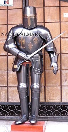 Shop NAUTICAL MART Templar Black knight suit of Armour Wearable Halloween Costume - Medieval Armor. Nautical Lamps, Nautical Gifts, Fantasy Shows, Wooden Screen, Fantasy Gifts, Late Middle Ages, Knight Armor, Suit Of Armor, Medieval Armor