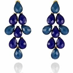 Amie Earrings http://blossomboxjewelry.com/e1361.html# #indian #jewelry #fashion #style #sapphire #blue #purple #gemstones #earrings #bollywood #designer