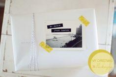 imballaggio con fornai spago, nastro di washi, e fotografie d'epoca // Lauren Elise realizzato da louellaa