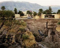 Joel Sternfeld.  Après A Flash Flood, Rancho Mirage, en Californie 1979