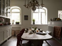 Another possible bench dining room table idea...  Thinking formal living room/dining room combo with this on a back wall.