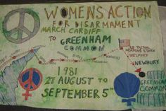 Greenham March banner » The Peace Museum Thalia Campbell and Lucy Higgs.