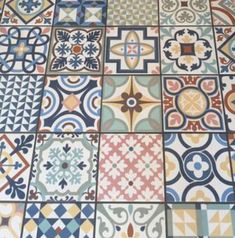A rustic patterned floor and wall tile in a beautiful mix of heritage colours. Perfect for creating a vintage feel to any kitchen, bathroom, entrance hall. Small Kitchen Tiles, Kitchen Splashback Tiles, Backsplash, Hall Flooring, Unique Flooring, Ceramic Floor Tiles, Bathroom Floor Tiles, Floor Patterns, Tile Patterns