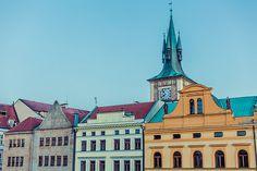 Colorful Buildings, view from Charles Bridge. Prague, Czech Republic