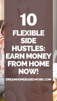 Interested in earning money right now? There are plenty of flexible side hustles you can do from the comfort of your own home. Depending on how much effort you put in, these online jobs can generate some part-time or full-time income. If you need flexible side hustles to earn money from home quickly, save this pin! #workathome #hustle #makemoneyonline Earn Money Online Fast, Earn Money From Home, Way To Make Money, Work From Home Companies, Work From Home Jobs, Online Income, Online Jobs, Need Cash Now, Home Based Work