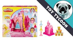Play Doh PRETTIEST PRINCESS CASTLE set with Cinderella, Belle and Aurora