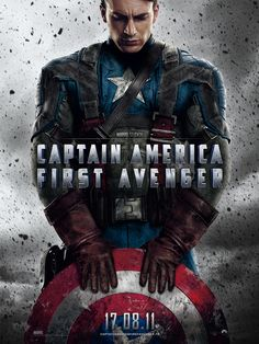 Captain America First Avenger UK One Sheet - Directed by Joe Johnston with Chris Evans, Tommy Lee Jones, Hugo Weaving, Hayley Atwell and Sebastian Stan 2011 Movies, Hd Movies, Movies To Watch, Movies Online, Movie Tv, Movies Free, Bucky Barnes, Steve Rogers, Tommy Lee Jones