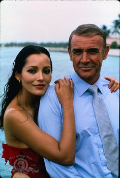 Still of Sean Connery and Barbara Carrera in Never Say Never Again