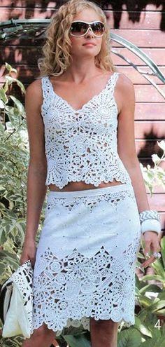Crochet top and skirt - has graphs