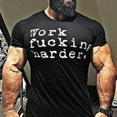 Jason Huh - Showing off new shirts. Workout Humor, Gym Workouts, Beard Styles, Kickboxing, Bodybuilding, Fitness Motivation, Mens Tops, Clothes, Goals