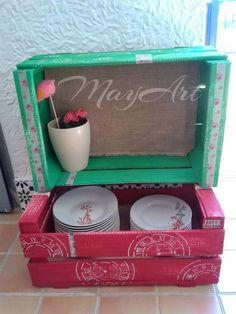 Caixes fusta on pinterest fruit box pintura and crates - Cajas de madera recicladas ...