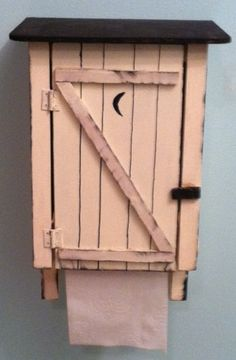 Outhouse Toilet Paper Holder by WoodYouBuildIt on Etsy, $19.00