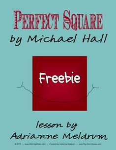 FREE Perfect Square Book Study.  The best of both worlds!  Literature paired up with math.