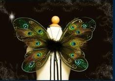 Peacock Pixie Wings. $50.00, via Etsy.