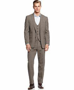 Vince Camuto Glen Plaid Vest, Jacket, Pants & Slim-Fit Shirt, macys
