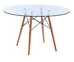 Table Eames glass Style 100 cm