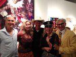 Jay & artist Ingrid Magidson in front of her painting, ArtAspen's Cindy Lou Wakefield & Rick Friedman