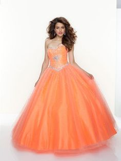 orange formal dress! Probably wouldn't look good on me, but I love this dress!