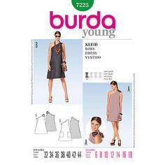 Buy Burda Women's One-Shoulder Dress Sewing Pattern, 7225 Online at johnlewis.com