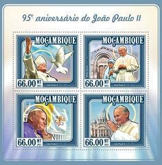 Post stamp Mozambique MOZ 15118 a95th anniversary of John Paul II (1920–2005)