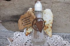 Angel Feather Blessings Angel Feather Bottle by AngelandAnnie