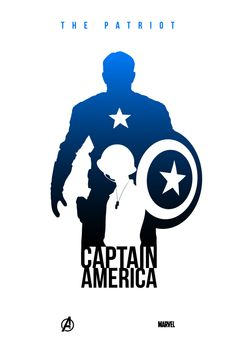 Captain America Silhouette by Kevin Collert
