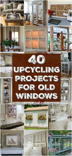 40 Simple Yet Sensational Repurposing Projects For Old Windows - Reuse, repurpose and upcycle old windows with these brilliantly creative projects! You will love these easy diy window projects to decorate your home with! Try making one today! Old Window Projects, Diy Craft Projects, Home Projects, Diy Crafts, Craft Ideas, Project Ideas, Upcycled Crafts, Crafts Cheap, Simple Projects