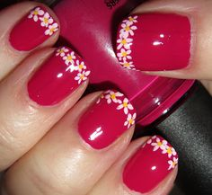 Marias Nail Art and Polish Blog: French tip flowers