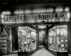 "Washington, D.C., circa 1920. ""Peoples Drug Store, 14th & U."""