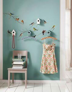 Wanddekoration: Wandsticker Vögel von Komar, gesehen bei www.livingo.de