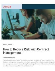 How to Reduce Risk with Contract Management [[  This Conract Management whitepaper describes where the weak points in the contract lifecycle appear, and where risk is most likely to be introduced into the process ]]