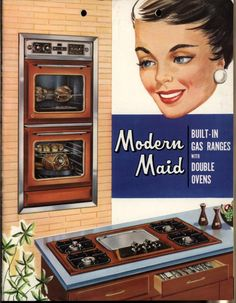 Modern Maid built-in gas ranges with double oven 1950