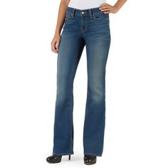 Signature by Levi Strauss & Co. Totally Comfy Skinny Boot Jeans, Size: 14L, Blue