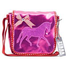 zebra trends kindertas schooltas paard pink