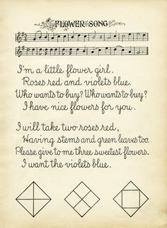 Old Design Shop ~ free digital image: Flower Song vintage school lesson page Handwriting Samples, Text Form, Vintage Ephemera, Shabby Vintage, Flowers For You, Vintage School, Book Illustration, Illustrations, Music Covers
