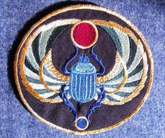 Egyptian Scarab Iron on Patch Small by GerriTullis on Etsy, $10.50
