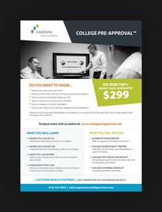 Create a flyer to promote an innovative College Pre Approval service by Motiff Media�