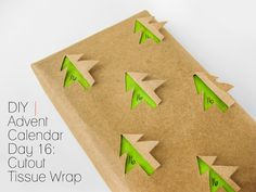 Cafe Craftea: DIY | Advent Calendar Day 16: Cutout Tissue Wrap
