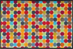 Fußmatte wash+dry Design Mikado Dots 50x75 cm Wohnwelten Fußmatten waschbare Türvorleger