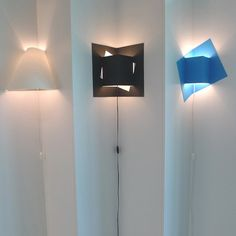 """A few lights designed to go in a corner are made, but not many. This is certainly the only flat-packed one! """"Pop-Up"""" by Well Well Designers."""