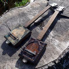 Guitar Strings - Always Wanted To Learn Guitar? Cigar Box Nation, Cigar Box Guitar Plans, Steampunk Guitar, Banjo Ukulele, Hammered Dulcimer, Homemade Instruments, Music Decor, Guitar Building, Music Wall