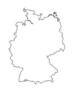 Germany outline with a heart where Garmish is located
